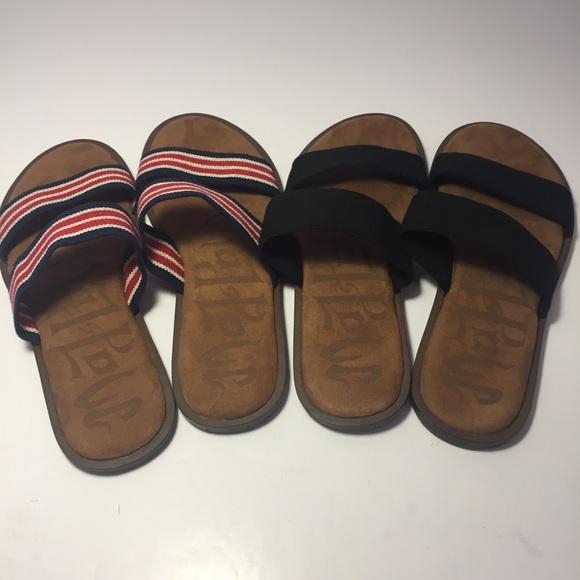 40b1dae45326 Mad Love Shoes - 2 Pair Mad Love Slides Tahlia Flat Sandals 10